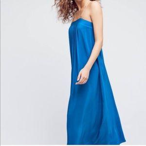 Anthropologie HD Paris blue maxi dress size 2